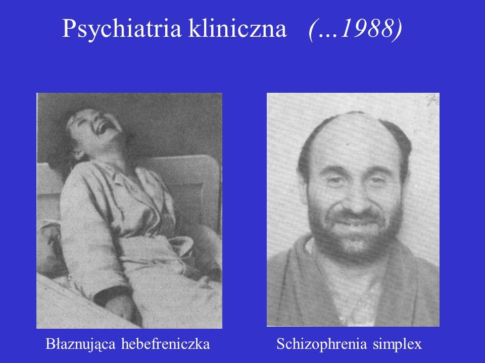 Diagnostyka schizofrenii według ICD-10 a)Echo myśli b)Urojenia oddziaływania c)Omamy komentujące d)Utrwalone urojenia o absurdalnej treści e)Utrwalone omamy z urojeniową interpretacją f)Otamowanie lub rozkojarzenie toku myślenia g)Zachowania katatoniczne h)Spłycenie reakcji emocjonalnych i)Utrata zainteresowań i dążeń Co najmniej jeden z objawów (a-d), albo dwa objawy (e-i) występujące przez miesiąc lub dłużej