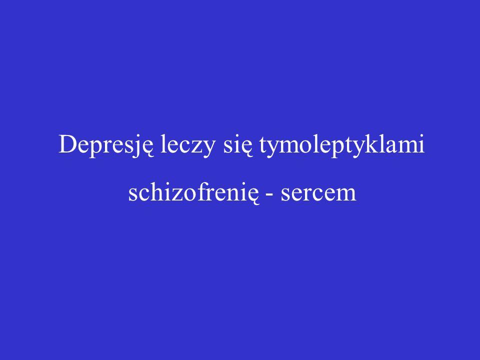 Depresję leczy się tymoleptyklami schizofrenię - sercem