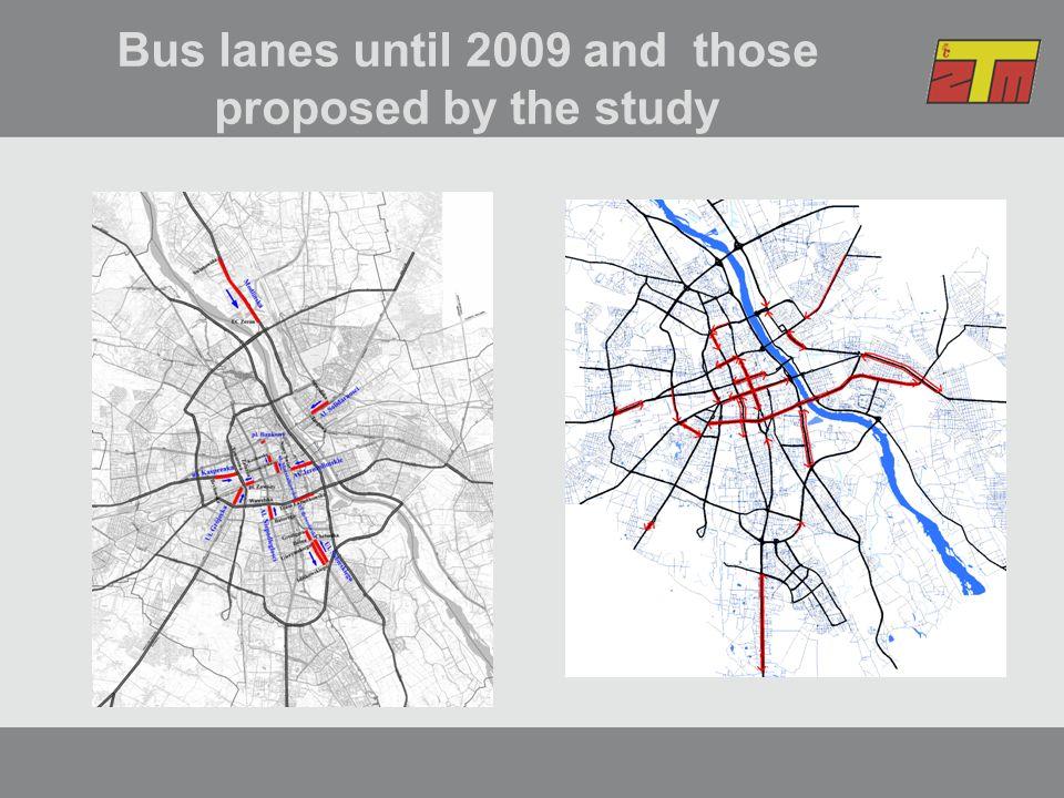 Status of the existing bus lanes 1Al.JerozolimskieA1 170stały 1 170 02/2001 2Al.