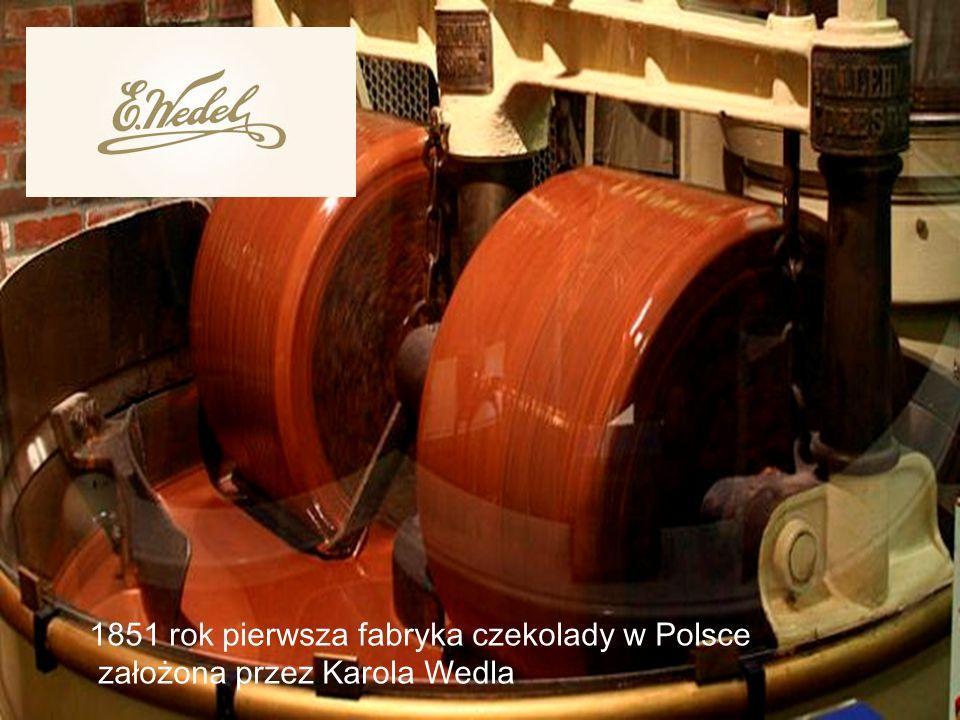 1851 rok pierwsza fabryka czekolady w Polsce założona przez Karola Wedla