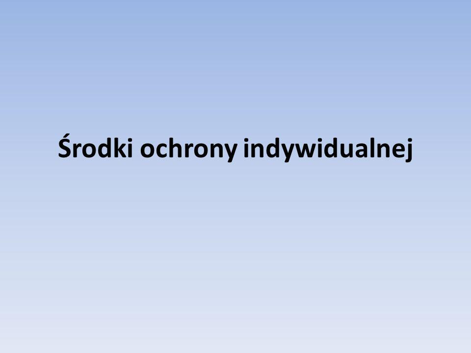 2015-12-10 19:57 Środki ochrony indywidualnej oraz odzież i obuwie robocze 42 Zasady stosowania środków ochrony indywidualnej Lp.Lp.