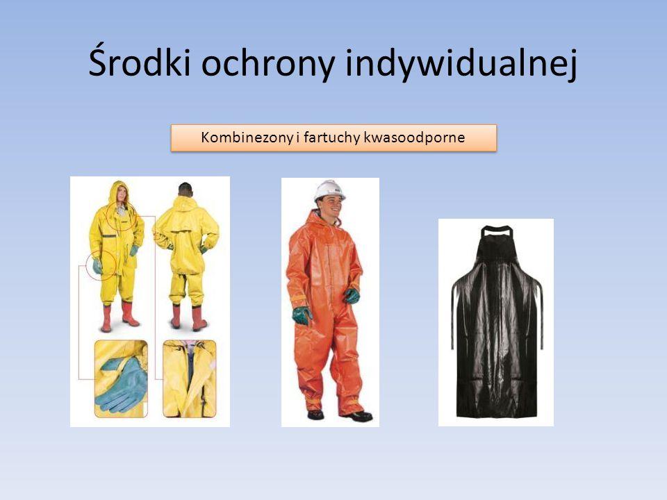 Środki ochrony indywidualnej Kombinezony i fartuchy kwasoodporne