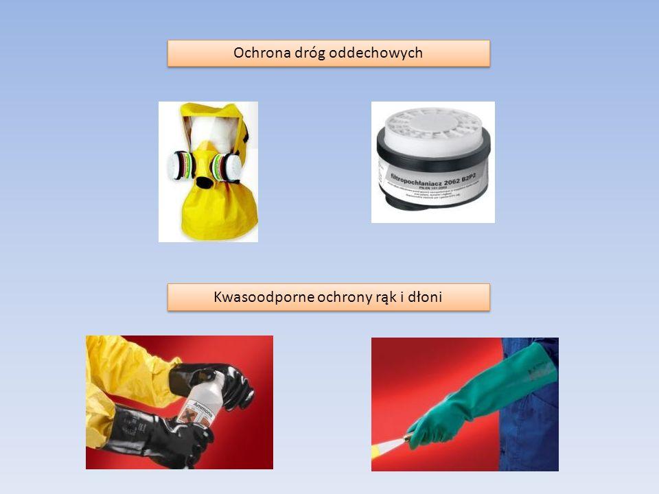 Ochrona dróg oddechowych Kwasoodporne ochrony rąk i dłoni