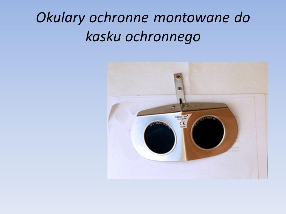 Okulary ochronne montowane do kasku ochronnego
