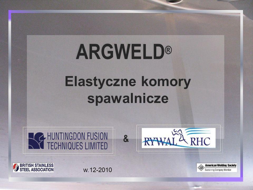USING PROVISIONAL DAM SYSTEMS Elastyczne komory spawalnicze ARGWELD® Elastyczne komory spawalnicze 11 Miernik zawartości tlenu Titanium podłączony pod wylot gazu z komory.