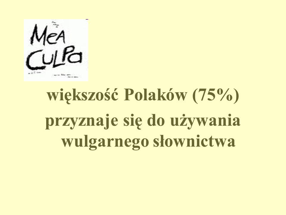 większość Polaków (75%) przyznaje się do używania wulgarnego słownictwa
