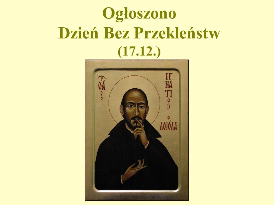 Ogłoszono Dzień Bez Przekleństw (17.12.)