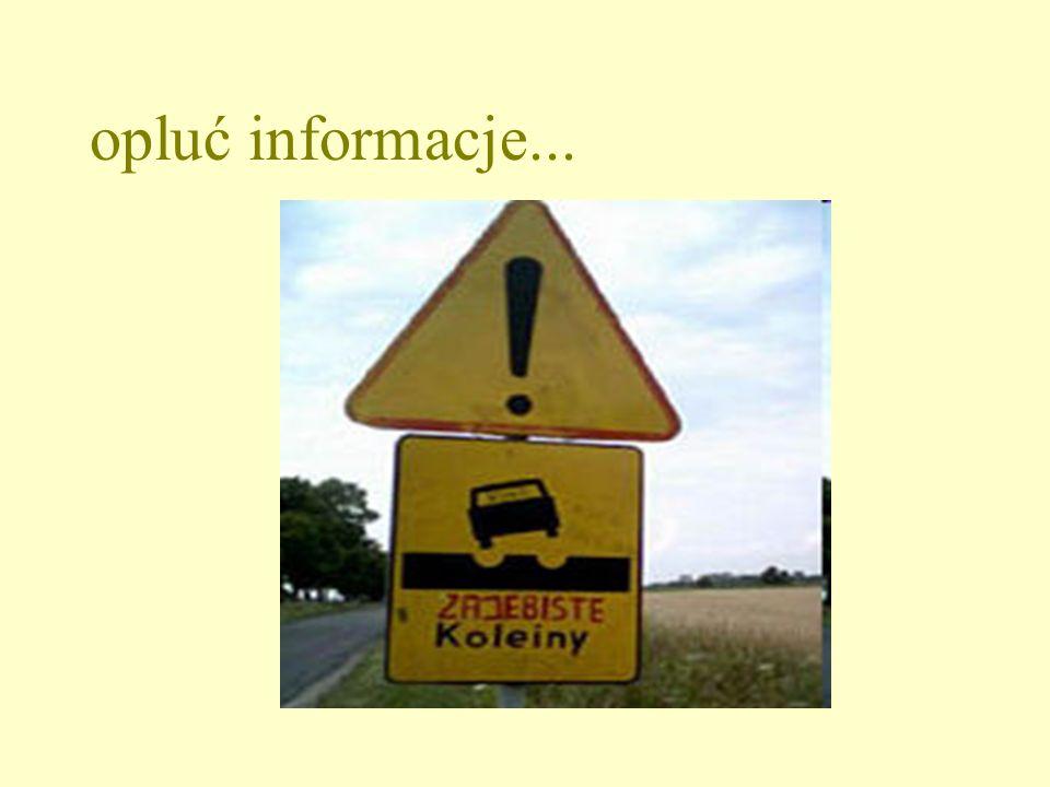 opluć informacje...