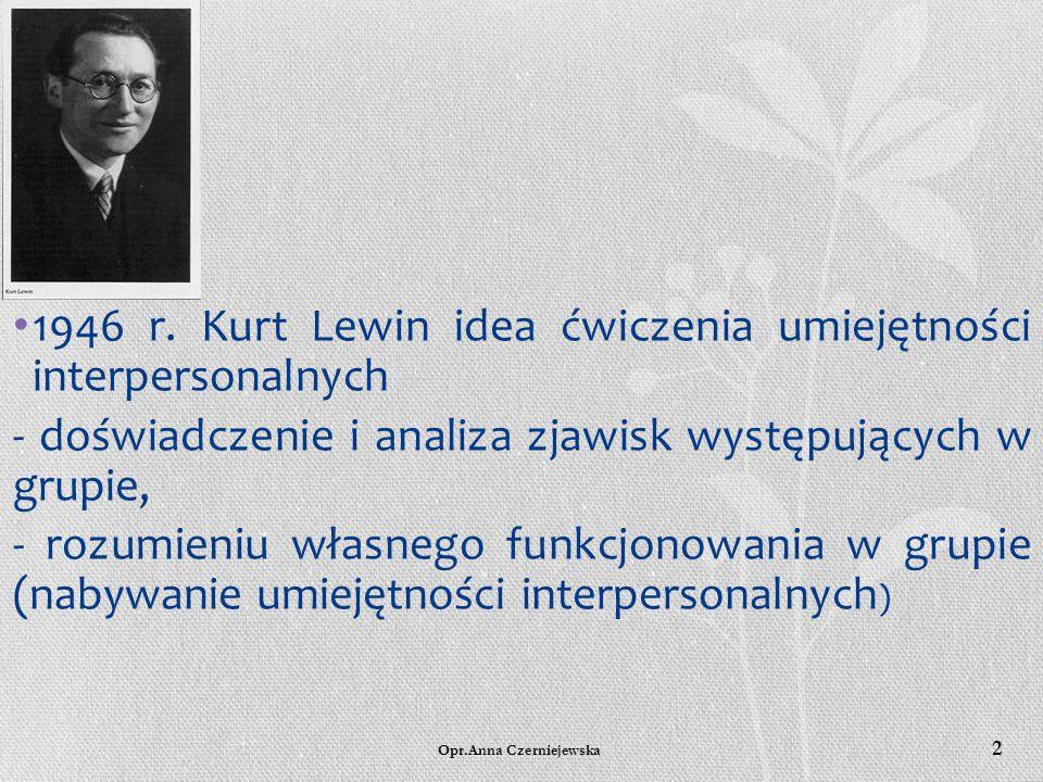 Anna Czerniejewska SPPiIK 2015 GRUPA JAKO CZĘŚĆ POMOCY PSYCHOLOGICZNEJ