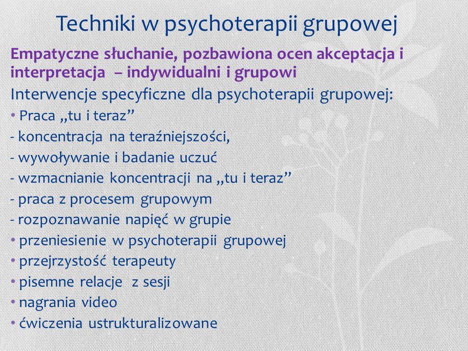 7. funkcjonowania grupy na kilku poziomach (relacyjnym, osobistym, warsztatowym), 8.złamania kontraktu, 9.złamania normy grupowej, 10.usztywnienia się