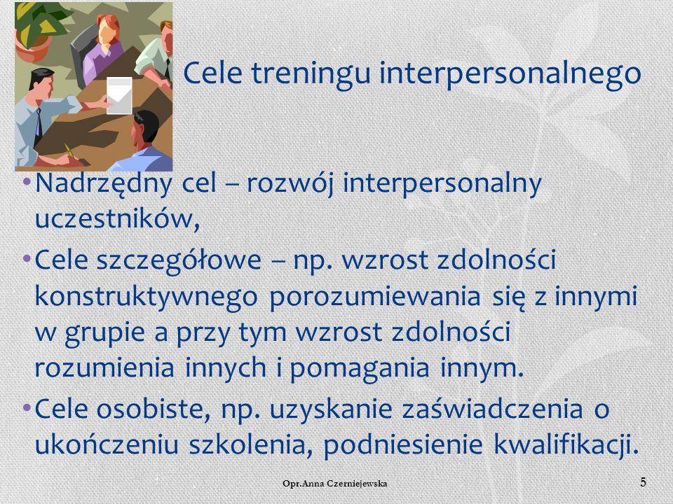 Opr.Anna Czerniejewska 4 T.I. w Polsce został zainicjowany w latach 70-tych. Pierwsze treningi przeprowadzono dla studentów psychologii UW pod kierunk