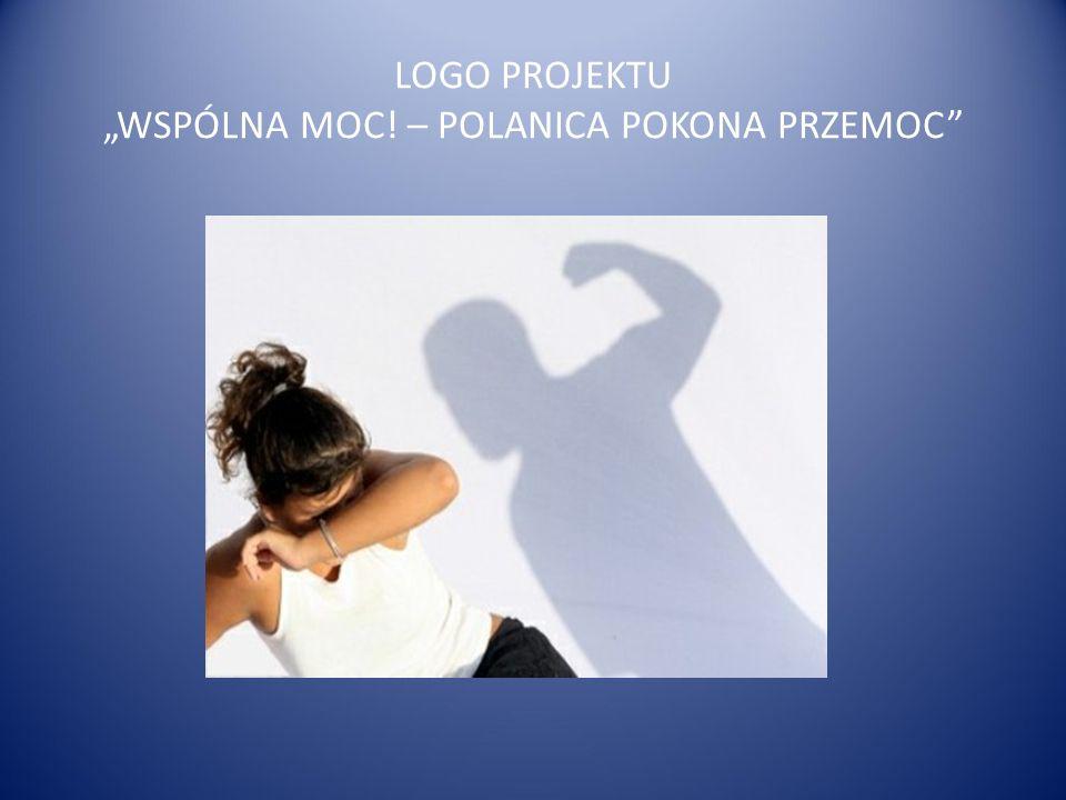 """LOGO PROJEKTU """"WSPÓLNA MOC! – POLANICA POKONA PRZEMOC"""