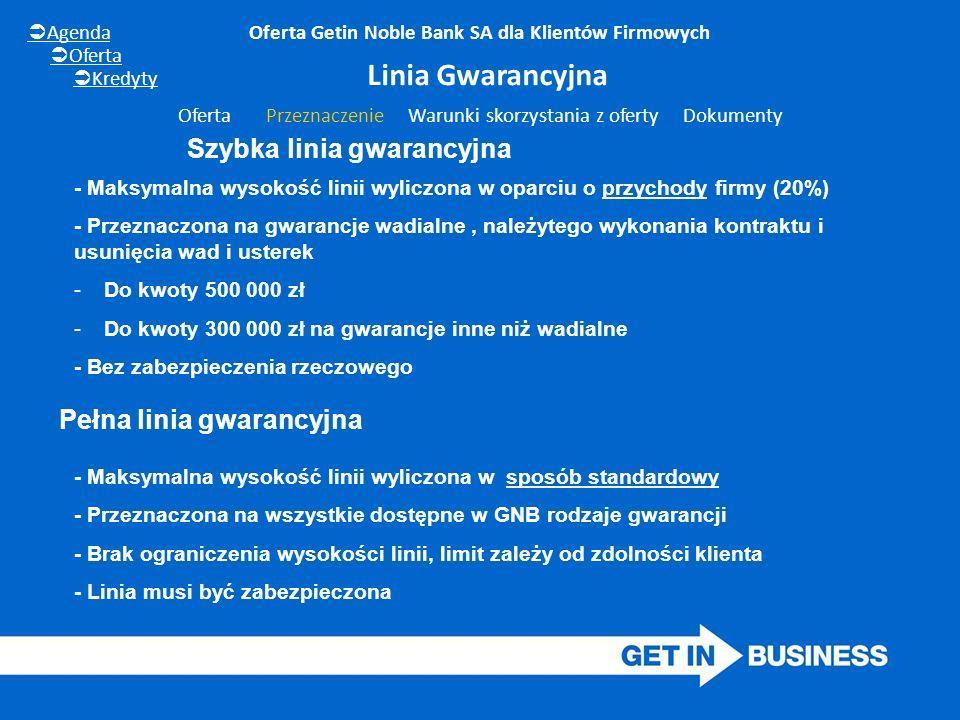- Maksymalna wysokość linii wyliczona w oparciu o przychody firmy (20%) - Przeznaczona na gwarancje wadialne, należytego wykonania kontraktu i usunięc
