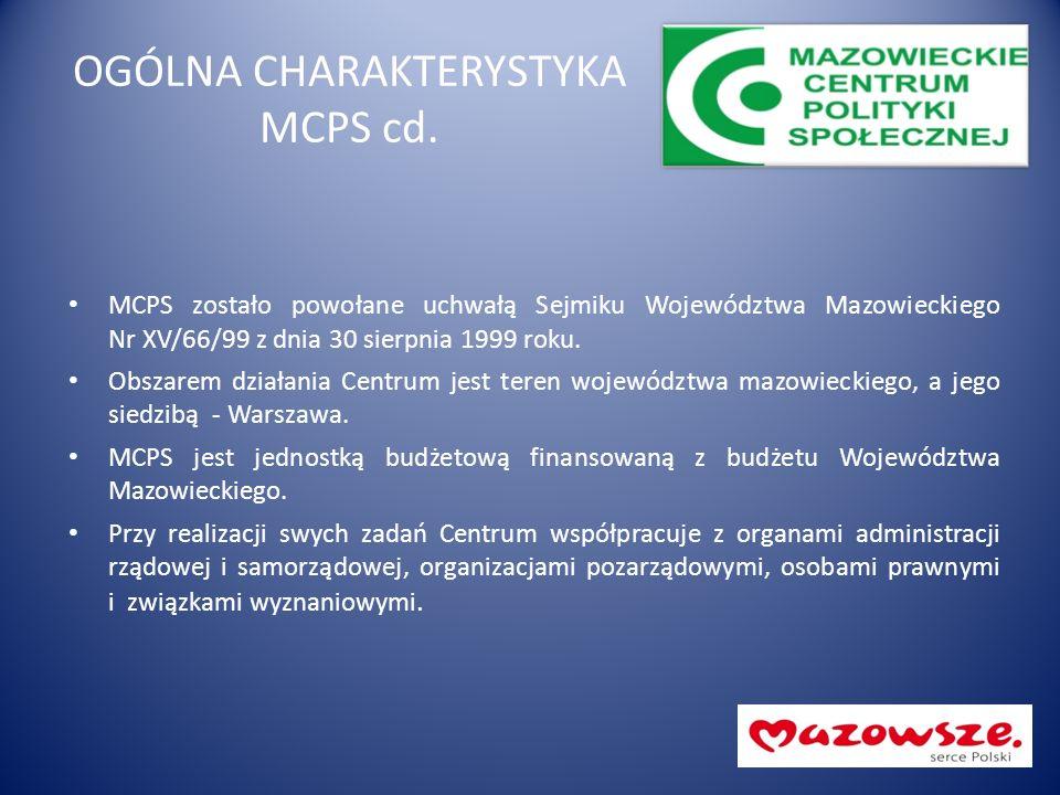 OGÓLNA CHARAKTERYSTYKA MCPS cd. MCPS zostało powołane uchwałą Sejmiku Województwa Mazowieckiego Nr XV/66/99 z dnia 30 sierpnia 1999 roku. Obszarem dzi