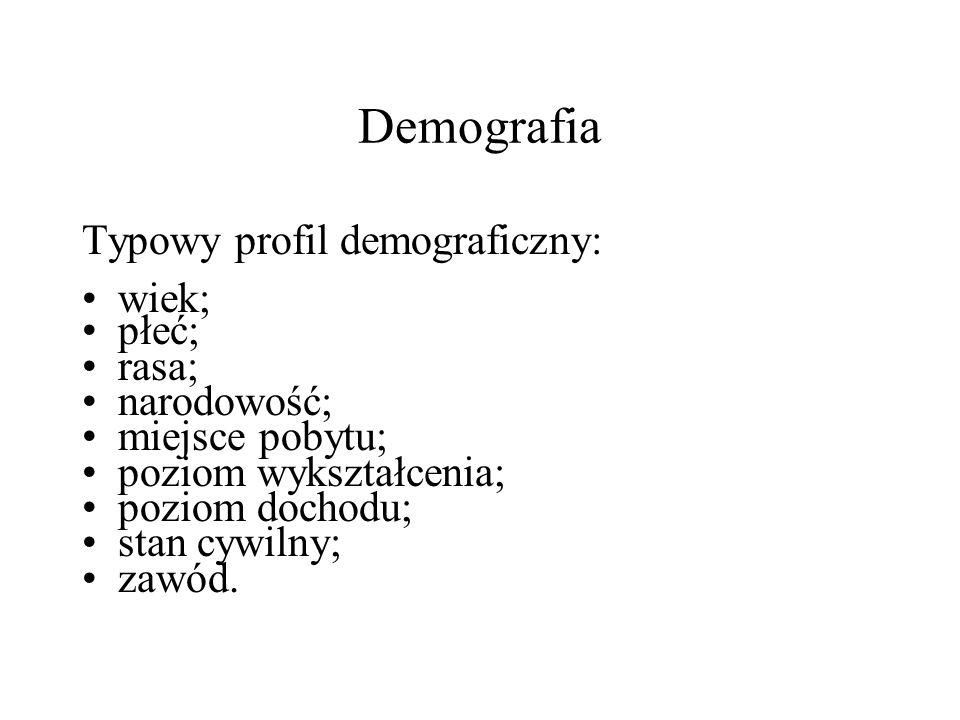 """Sposoby klasyfikacji użytkowników: 1.Demografia; 2.""""Sieciografia ;"""