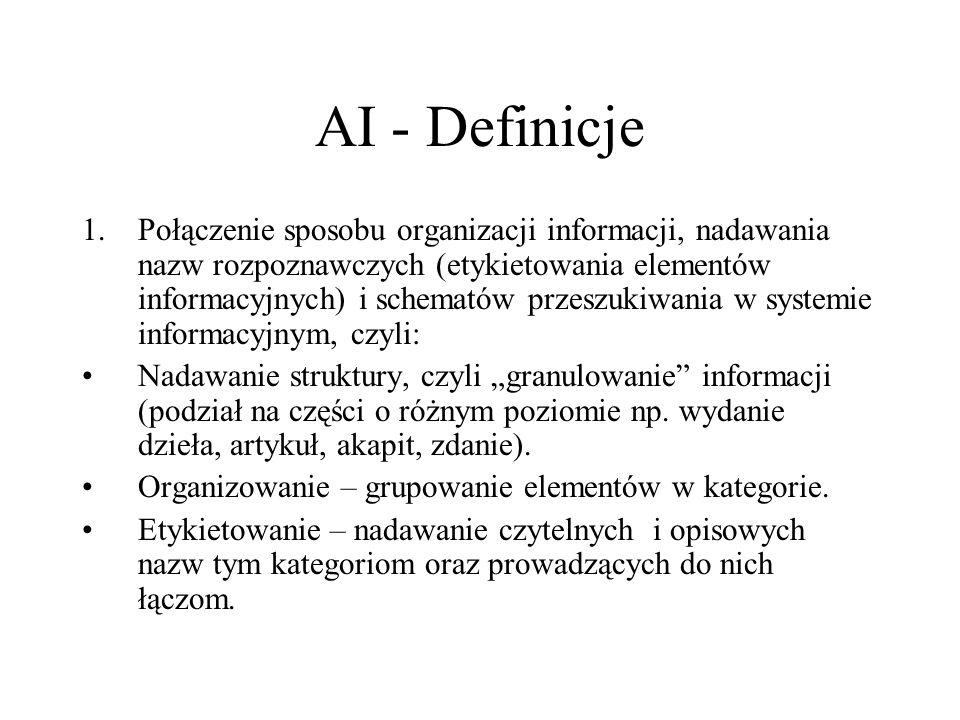 Lektury: L.Rosenfeld, P. Morville, Architektura informacji, wyd.