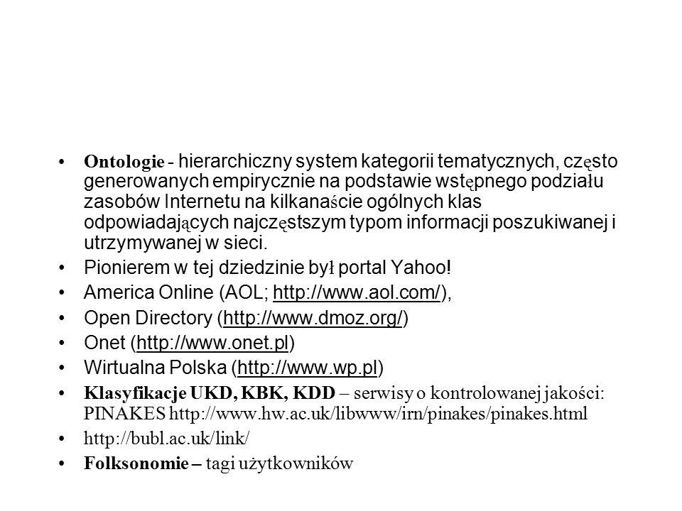 Języki informacyjno-wyszukiwawcze stosowne do wyszukiwania zasobów sieciowych: Języki słów kluczowych stosowane w alfabetycznych wyszukiwarkach współpracujących z systemami automatycznego indeksowania i operujących szeroką gamą technik wyszukiwania pełnotekstowego.