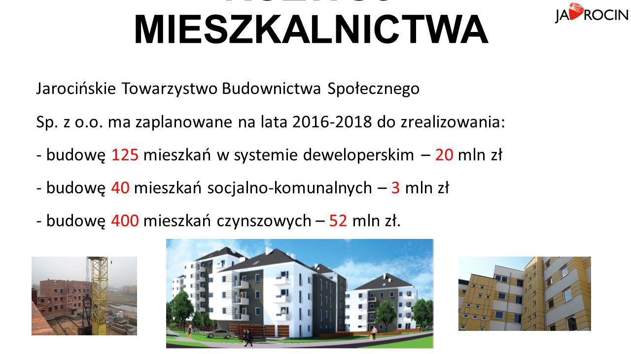 ROZWÓJ MIESZKALNICTWA Jarocińskie Towarzystwo Budownictwa Społecznego Sp.