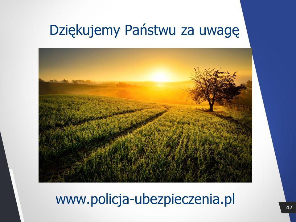42 Dziękujemy Państwu za uwagę www.policja-ubezpieczenia.pl