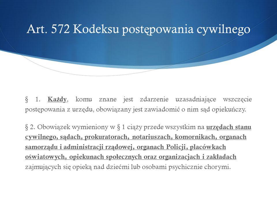 Art.572 Kodeksu post ę powania cywilnego § 1.