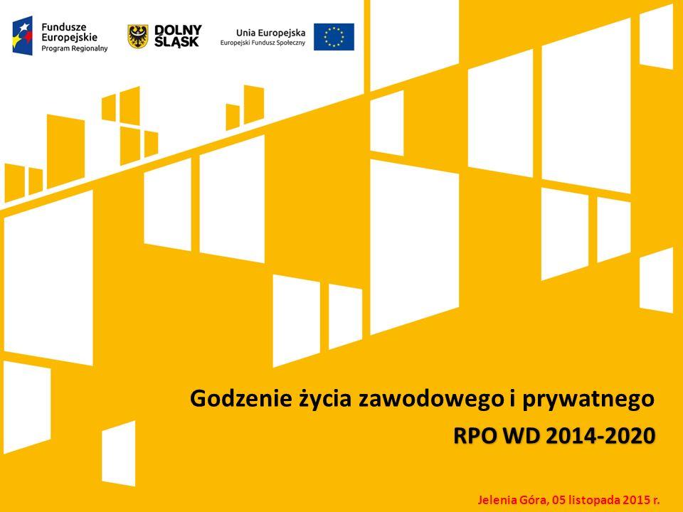 Kliknij, aby dodać tytuł prezentacji Godzenie życia zawodowego i prywatnego RPO WD 2014-2020 Jelenia Góra, 05 listopada 2015 r.