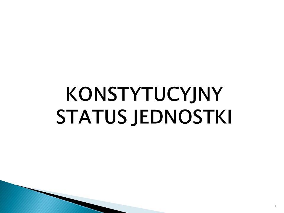 KONSTYTUCYJNY STATUS JEDNOSTKI 1