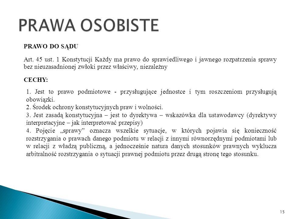 PRAWO DO SĄDU Art. 45 ust.