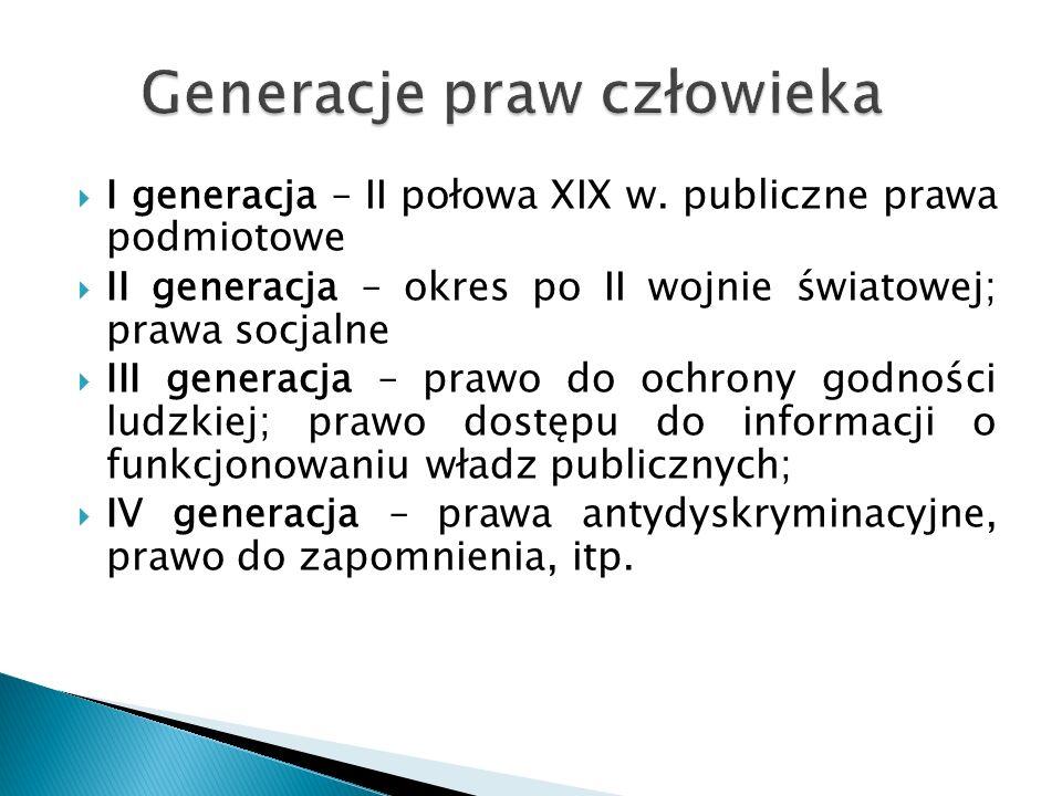  I generacja – II połowa XIX w.