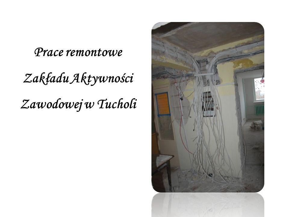 Prace remontowe Zakładu Aktywności Zawodowej w Tucholi