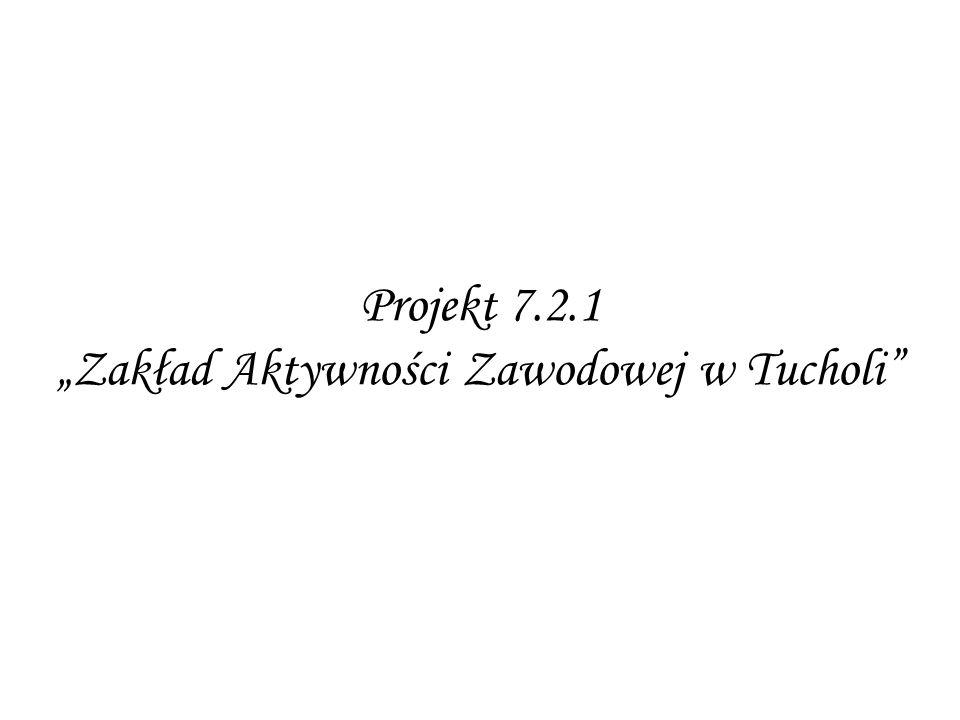 """Projekt 7.2.1 """"Zakład Aktywności Zawodowej w Tucholi"""