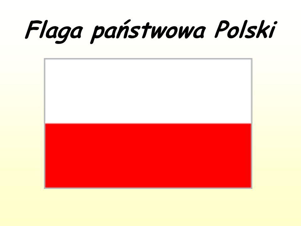 Flaga państwowa Polski Używana za granicą jako flaga przedstawicielstw dyplomatycznych (na morzu jako bandera handlowa).