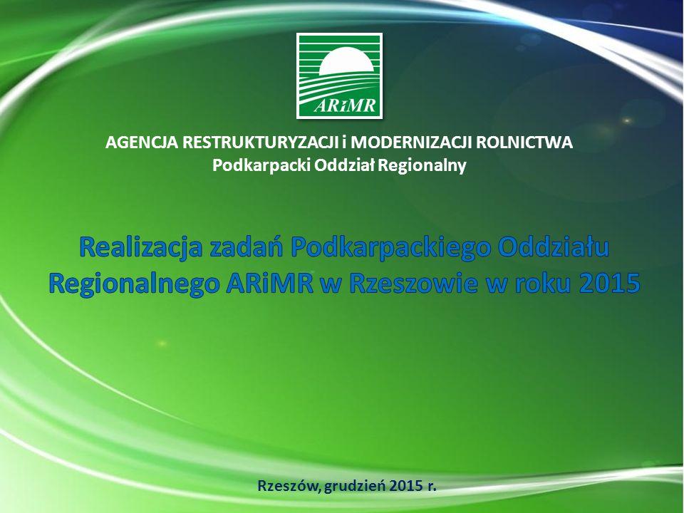 2 Struktura udzielonego wsparcia przez Podkarpacki OR ARiMR od 2002 roku w sumie Podkarpacki OR ARiMR dla swoich beneficjentów wypłacił (od 2002 r.