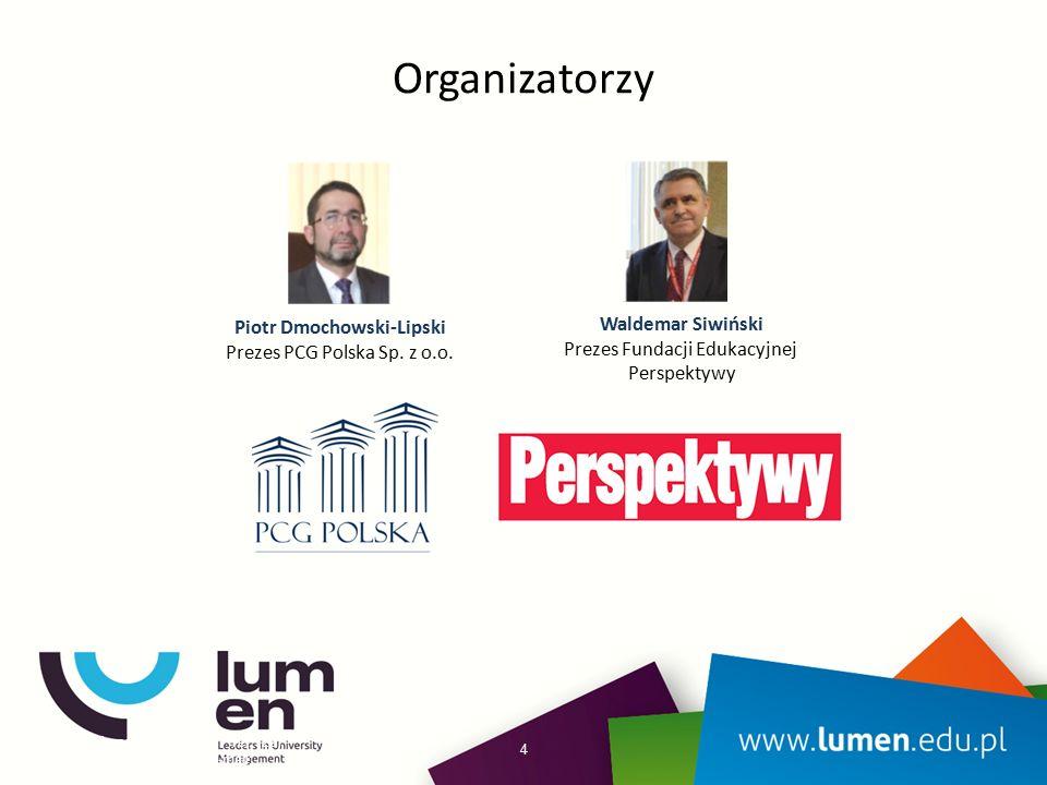 Organizatorzy 4 Piotr Dmochowski-Lipski Prezes PCG Polska Sp.