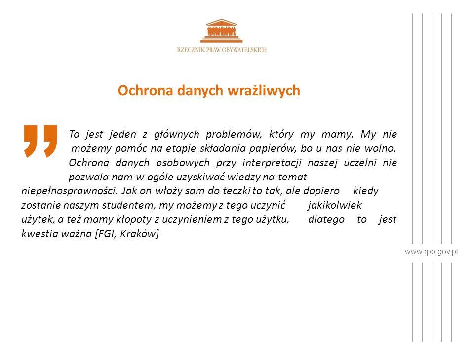 www.rpo.gov.pl Ochrona danych wrażliwych To jest jeden z głównych problemów, który my mamy.