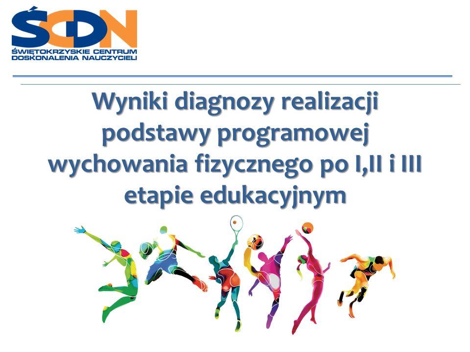 Cel badania Określenie poziomu sprawności fizycznej i umiejętności ruchowych wynikających z realizacji podstawy programowej wychowania fizycznego po I, II i III etapie edukacyjnym.