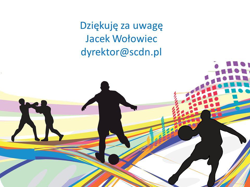 Dziękuję za uwagę Jacek Wołowiec dyrektor@scdn.pl
