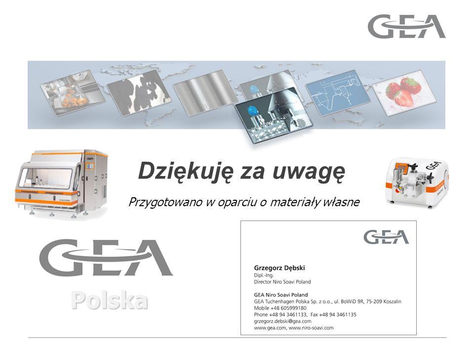 GEA Mechanical Equipment Dziękuję za uwagę Polska Przygotowano w oparciu o materiały własne