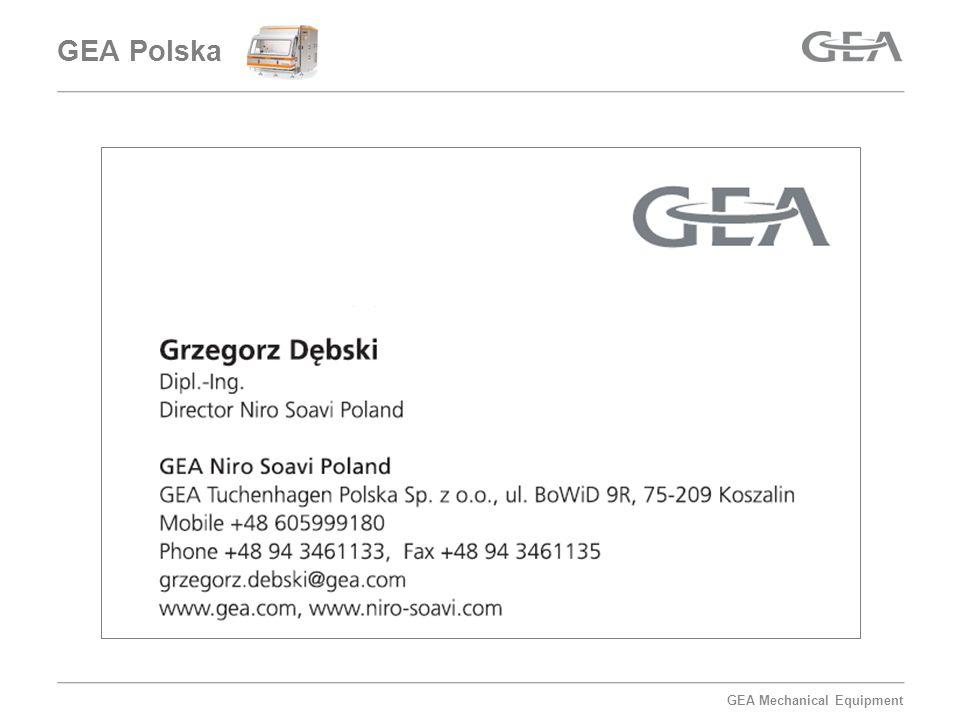 GEA Mechanical Equipment Homogenizacja 1 Uniwersalne homogenizatory ręczne 2 Homogenizatory typu Rotor-Stator 3 Maceratory, młynki homogenizujące 4 Urządzenia dyspergujące 5 Mieszalniki homogenizujące zbiornikowe 6 Homogenizatory ultradźwiękowe 7 Homogenizatory próżniowe Homogenizatory wysokociśnieniowe GEA Polska