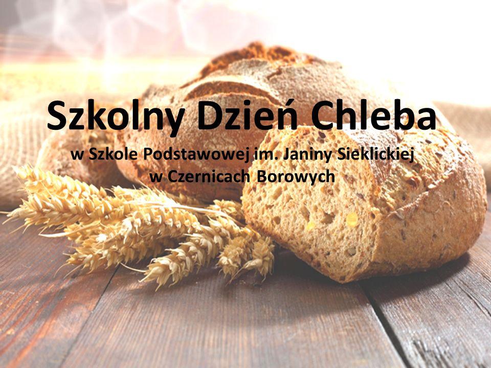 Szkolny Dzień Chleba w Szkole Podstawowej im. Janiny Sieklickiej w Czernicach Borowych