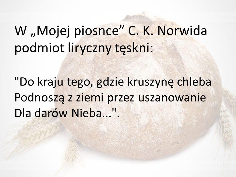 """W """"Mojej piosnce"""" C. K. Norwida podmiot liryczny tęskni:"""