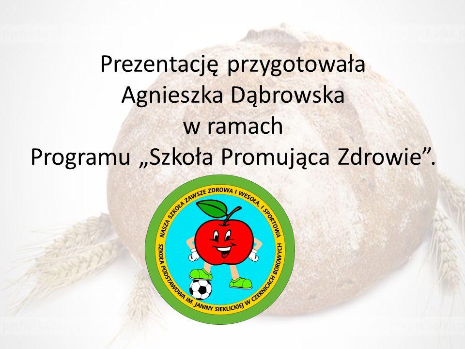 """Prezentację przygotowała Agnieszka Dąbrowska w ramach Programu """"Szkoła Promująca Zdrowie""""."""