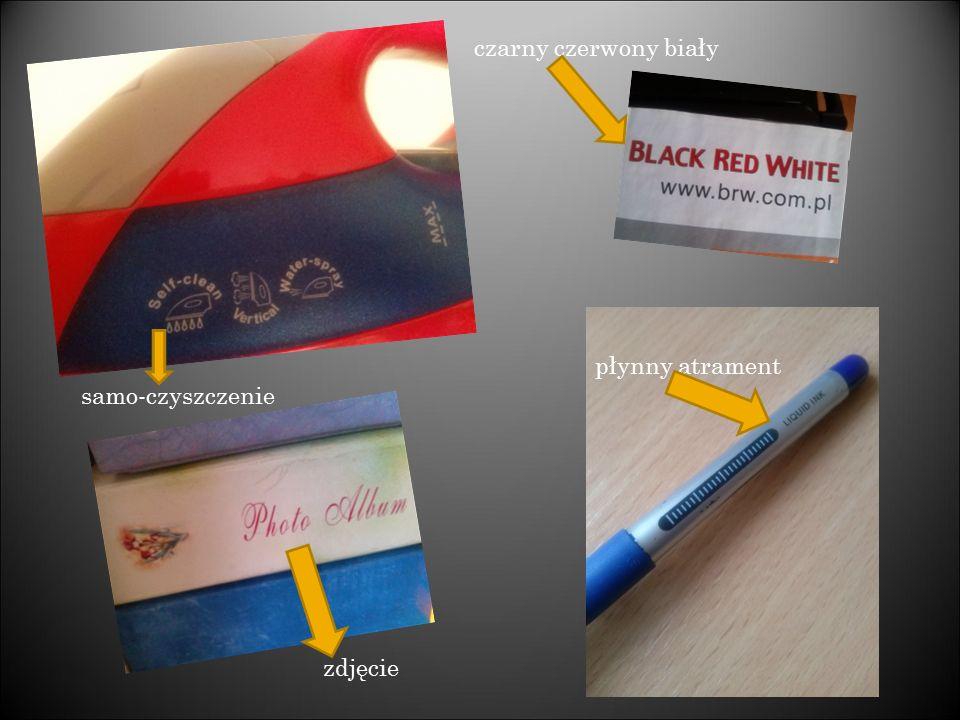 czarny czerwony biały płynny atrament zdjęcie samo-czyszczenie