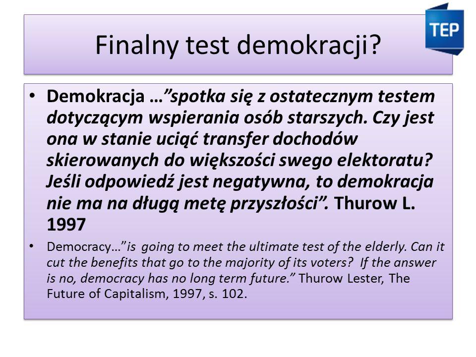 Finalny test demokracji.