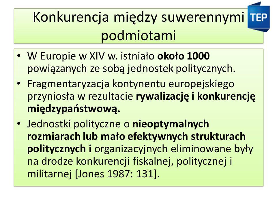 Konkurencja między suwerennymi podmiotami W Europie w XIV w.