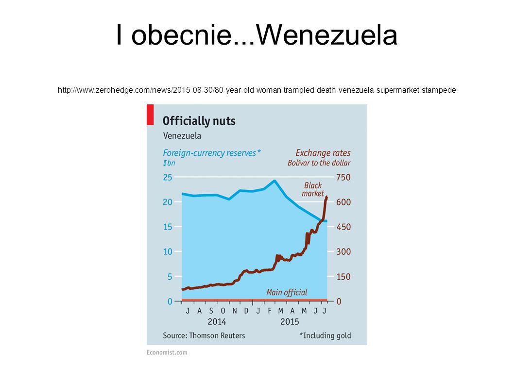 I obecnie...Wenezuela http://www.zerohedge.com/news/2015-08-30/80-year-old-woman-trampled-death-venezuela-supermarket-stampede