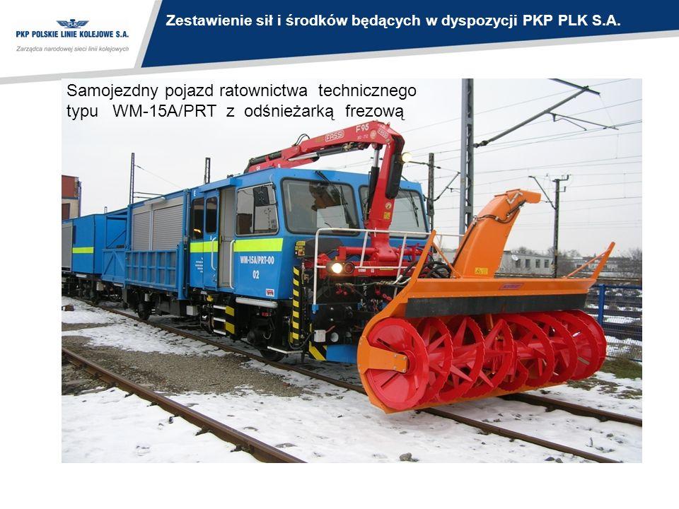 Samojezdny pojazd ratownictwa technicznego typu WM-15A/PRT z odśnieżarką frezową Zestawienie sił i środków będących w dyspozycji PKP PLK S.A.