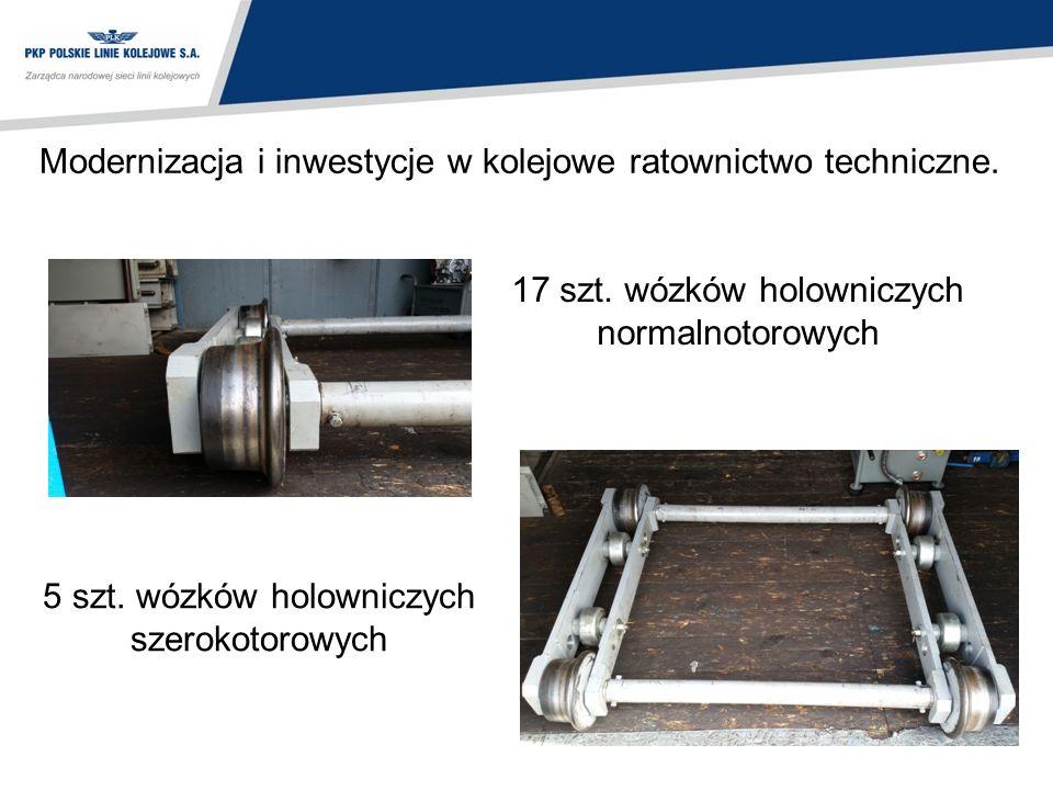 Modernizacja i inwestycje w kolejowe ratownictwo techniczne. 17 szt. wózków holowniczych normalnotorowych 5 szt. wózków holowniczych szerokotorowych