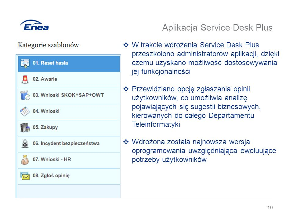 Proces nadawania uprawnień Pracownik Złożenie wniosku w systemie Service Desk Przełożony Wykonanie akceptacji Dysponent Wykonanie akceptacji LABI Weryfikacja dokumentów (dla systemów przetwarza- jących dane osobowe) Administrator Nadanie uprawnień 11  Dzięki procesowi nadawania uprawnień zaimplementowanemu w system Service Desk, wyeliminowano konieczność składania dokumentów papierowych