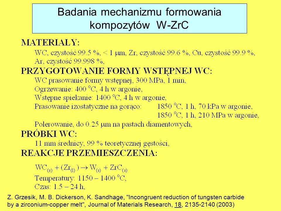Z. Grzesik, M. B. Dickerson, K. Sandhage,
