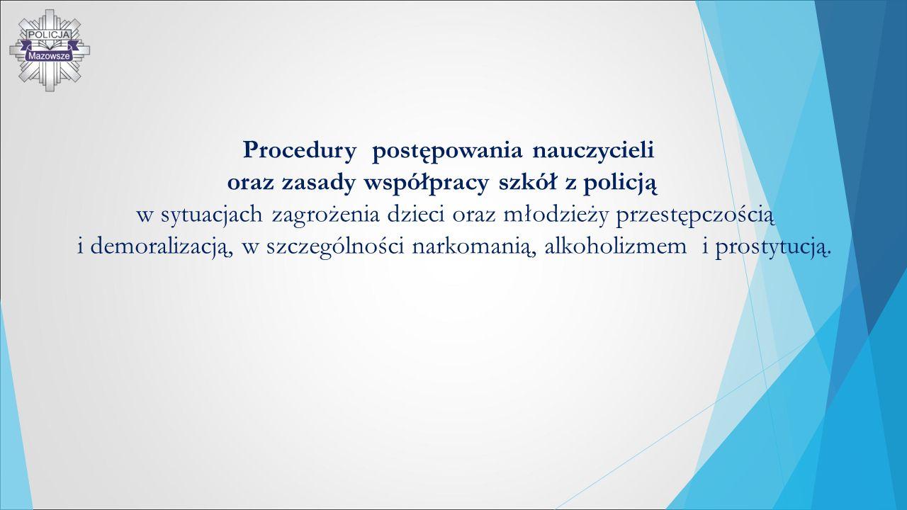 Procedury postępowania nauczycieli oraz zasady współpracy szkół z policją w sytuacjach zagrożenia dzieci oraz młodzieży przestępczością i demoralizacj